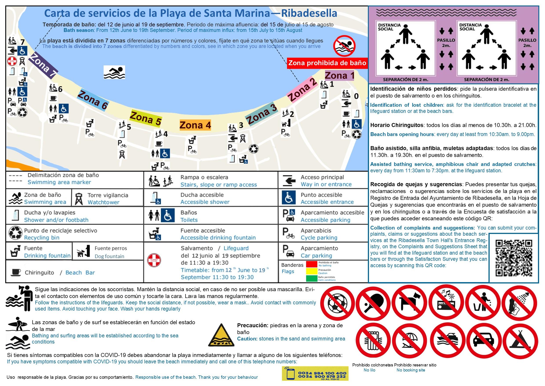 Carta de servicios de la Playa de Santa Marina