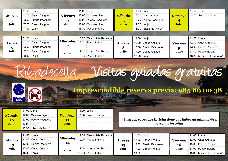 Visitas Guiadas: 1ª quincena Julio 2021