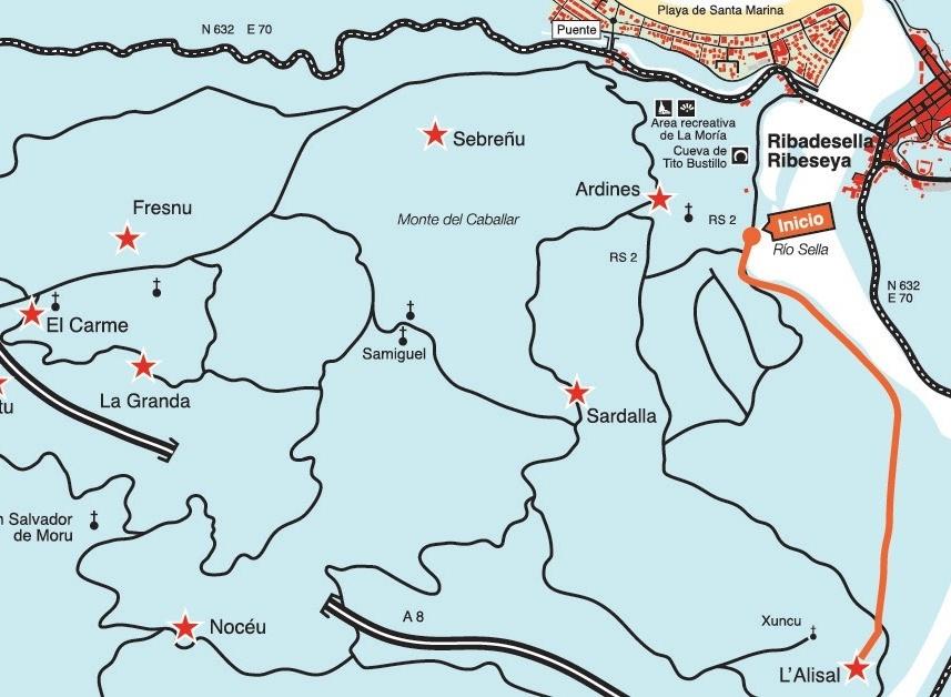 Mapa ruta La Mediana