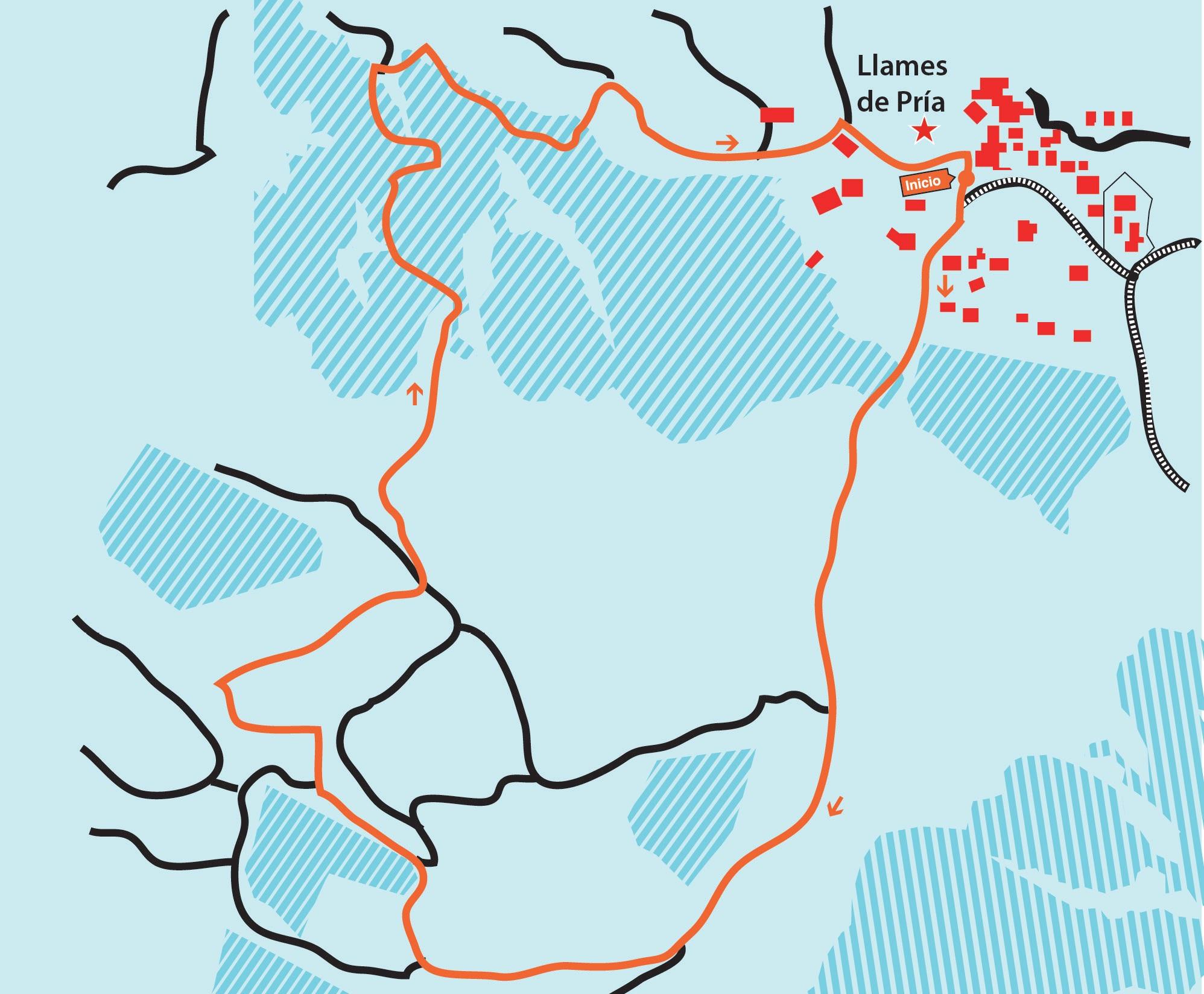 Mapa ruta Senda de Samuel Cachero